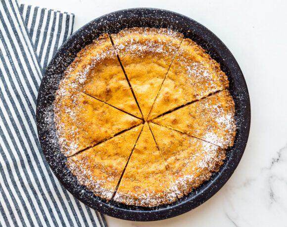 Milk Bar pie sliced and ready to serve.