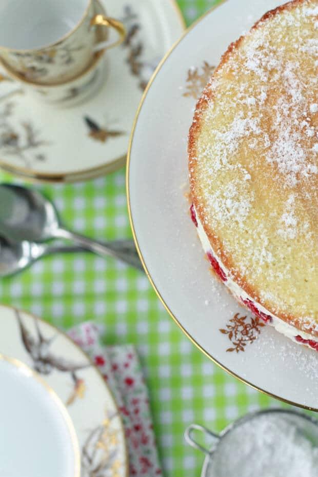 Gâteau framboisier cake
