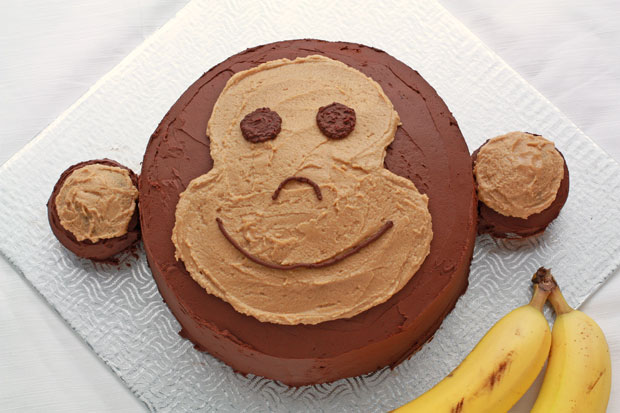 Chocolate banana peanut butter monkey cake
