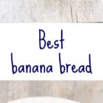 Best banana bread with mashed bananas cooked down to make a banana concentrate for the most flavorful moist banana bread