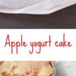 Traditional Italian apple yogurt cake made with a crunchy sugar topping from David Rocco's apple yogurt cake recipe