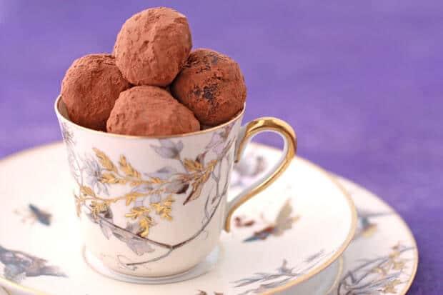 Recipe for chocolate truffles