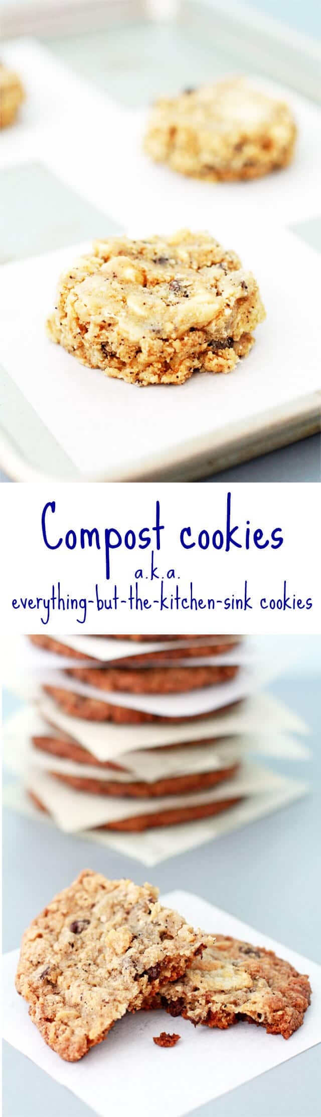 Momofuku Milk bar compost cookies recipe like everything cookies also know everything but the kitchen sink cookies recipe with potato chips, chocolate chips, graham crackers, and coffee grinds