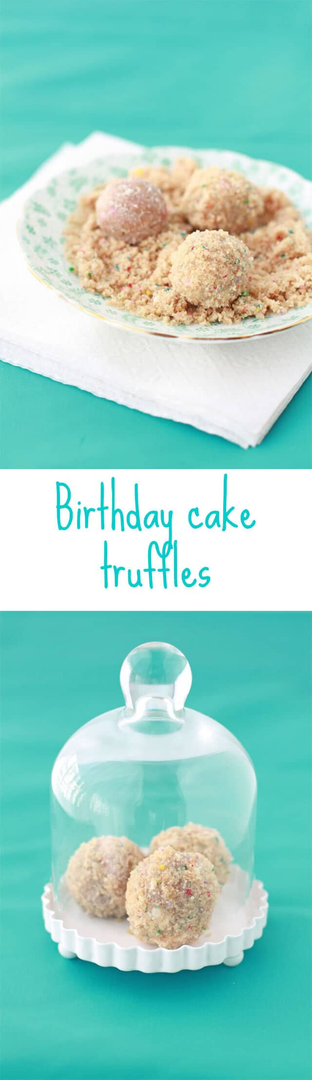 Momofuku Milk Bar birthday cake truffles recipe made from funfetti birthday cake straps and vanilla milk