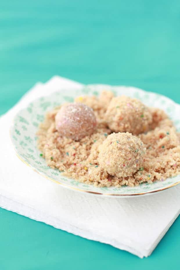 Momofuku Milk bar birthday cake truffles recipe made from cake scraps