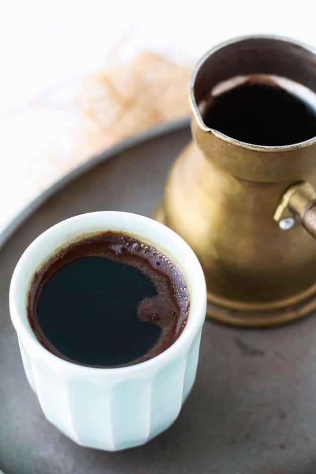 How to make Turkish coffee on the stove with a kanaka
