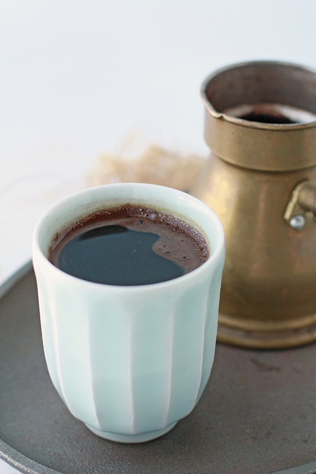 how to make turkish coffee with foam