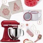 Red and white holiday gift guide