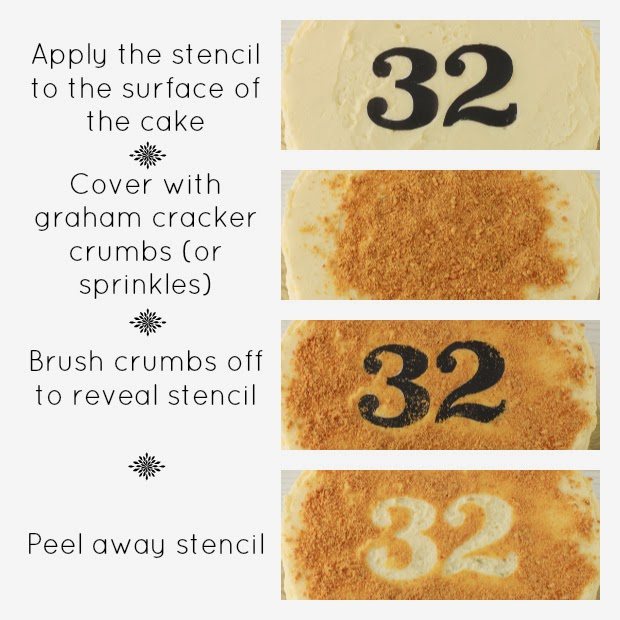 how to stencil a cake | kitchen heals soul
