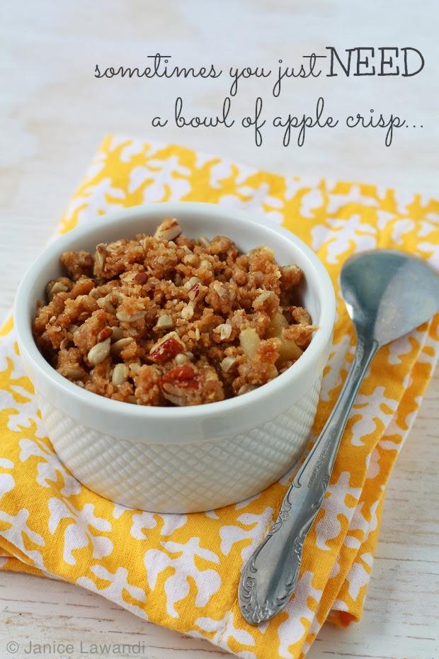apple crisp for one | kitchen heals soul
