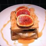 Fig, goat cheese, and honey napoleon