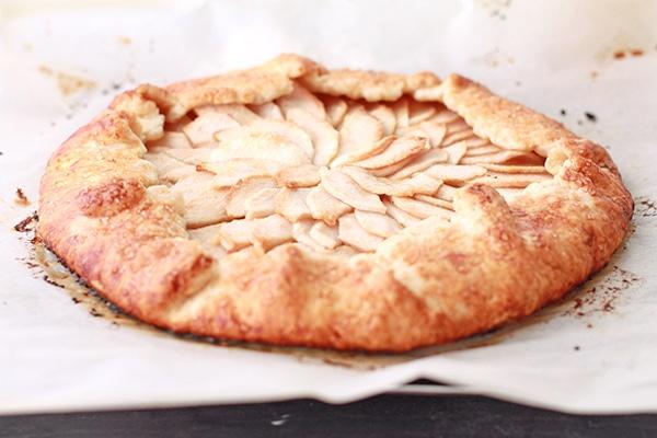 apple galette freshly baked