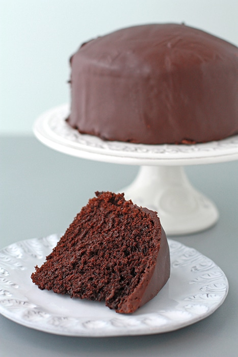 Egg-less chocolate cake with a ganache glaze | Kitchen Heals Soul