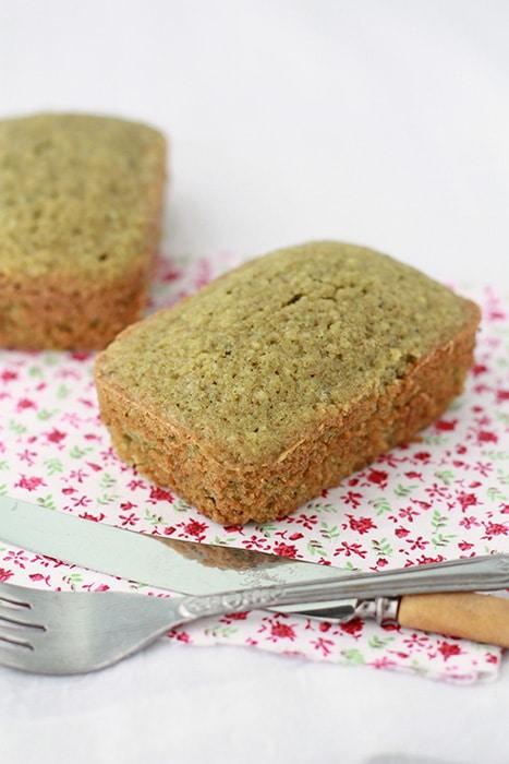 Matcha tea loaf cake