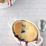Quebec wild blueberry cobbler