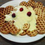 'Tis the season for cranberry waffles and eggnog crème anglaise