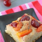 Cherry and apricot focaccia with rosemary