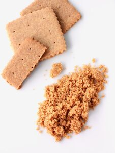 Grind up homemade graham crackers to make graham cracker crumbs
