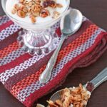 Pistachio, cranberry, and coconut granola with Three Farmers oil