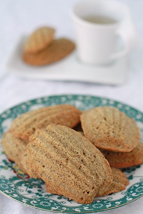 A plate of jasmine tea madeleines