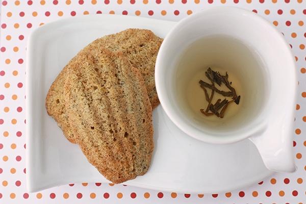jasmine tea madeleines