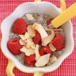 Coconut and raspberry chia-seed pudding