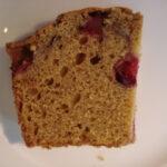 A farewell to fall baking: Pumpkin cranberry loaf