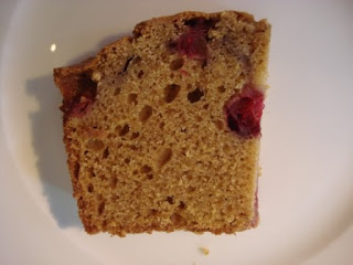pumpkin cranberry loaf