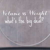 volume vs weight scale