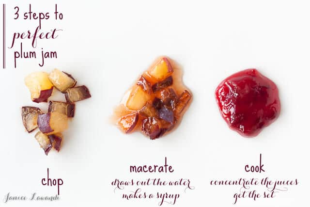 3 steps to perfect plum jam