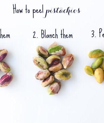 How to peel pistachios