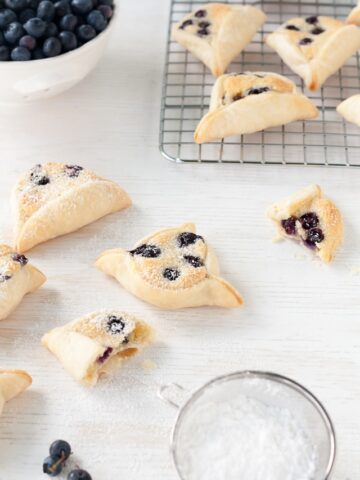 mini blueberry almond pies