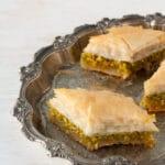 Buttery pistachio baklava