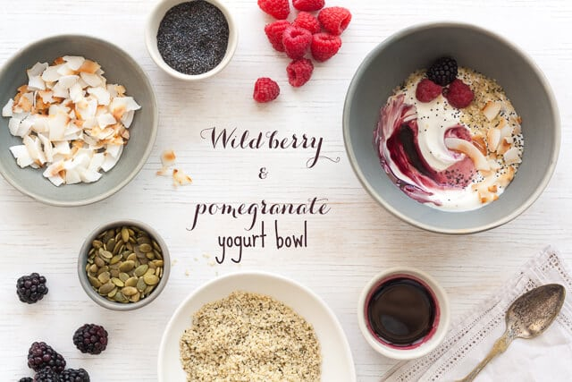 Wild berry pomegranate syrup