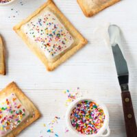 Homemade pop tarts with rhubarb apple filling and sprinkles