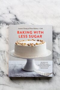Baking with less sugar book cover
