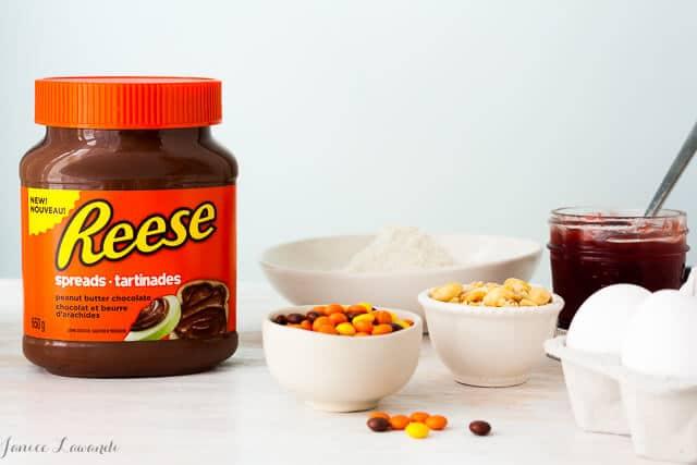 Ingredients for Reese brownie bites