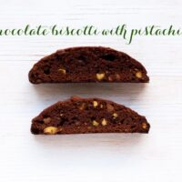 Chocolate biscotti with pistachios