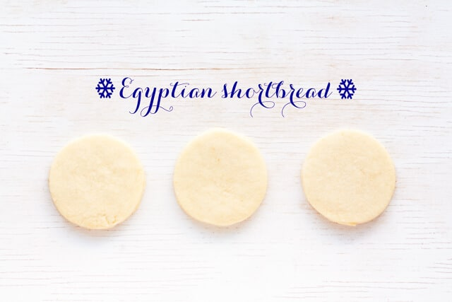 Egyptian shortbread - buttery shortbread flavoured with a little brandy