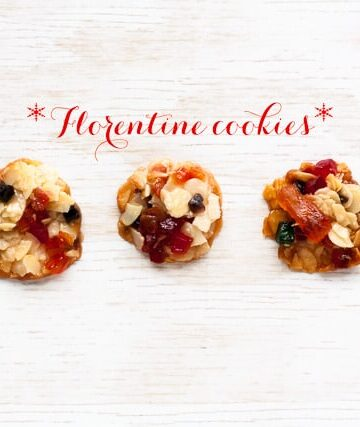 Florentine cookies: a delightful combination of sliced nuts, candied fruit, and honey