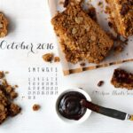 October 2016 desktop calendar