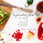 September 2016 desktop calendar