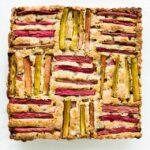 Rhubarb pumpkin seed cake after baking | kitchenhealssoul.com