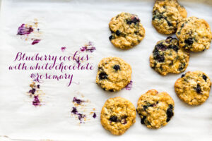 Blueberry cookies with white chocolate and rosemary |@ktchnhealssoul