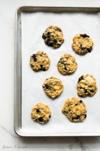 Oatmeal blueberry cookies with white chocolate and rosemary |@ktchnhealssoul