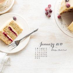 January 2017 Desktop calendar