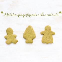 matcha gingerbread cookies