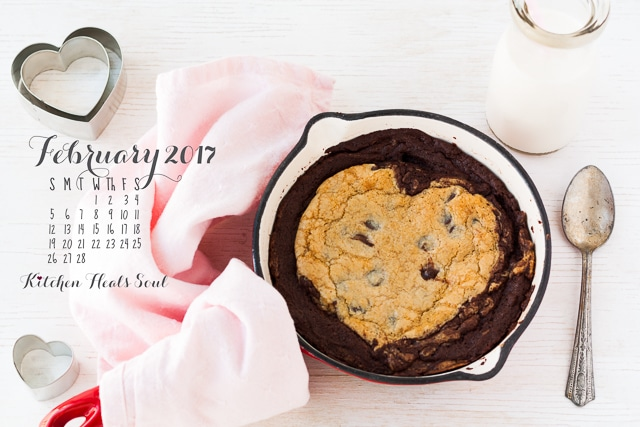 February 2017 desktop calendar free download