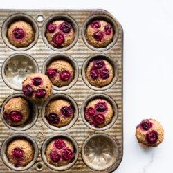 Baked cranberry chestnut financiers