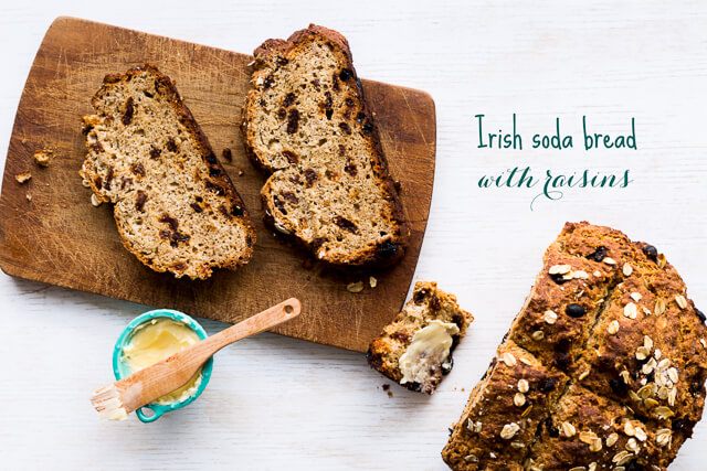 Irish soda bread with raisins is the easiest bread you can make